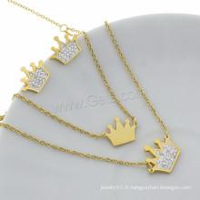 Ensembles de bijoux en or plaqué or en strass plaqué couleur