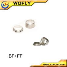 Front- und Rückrohr-Kompressionsverschraubung Edelstahl-Ferrule