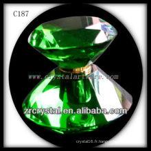 Belle bouteille de parfum en cristal C187
