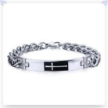 Moda jóias pulseira de aço inoxidável pulseira de identificação (hd434)