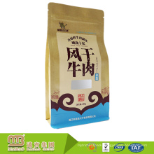 Trade Assurance Welcome Flat Bottom Food Packaging Kraft Paper Bag with Ziplock and Window
