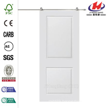 32 in. x 80 in. Cambridge Smooth Composite Barn Door with Sliding Door Hardware Kit