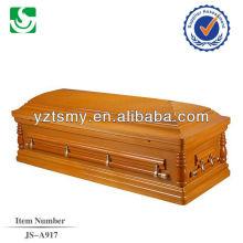 white velvet pine wood US casket