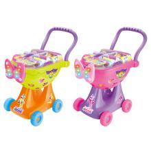 Carro de compras carrito de juguete de plástico con luz (h0009426)