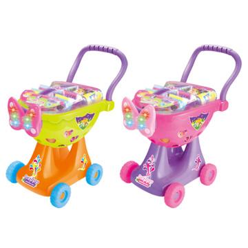 Shopping Trolley Plastik Spielzeug Warenkorb mit Licht (H0009426)