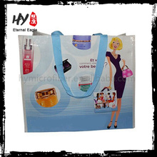 Venda quente reciclado pp tecido saco de compras