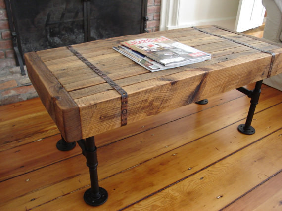 Pipe Coffee Table Rustic