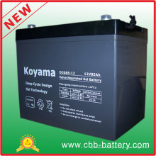 12V 85ah Deep Cycle Gel Batterie für Golfwagen