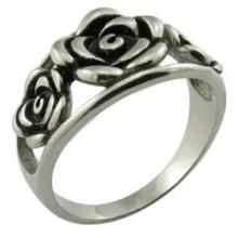 Melhor amigo promessa flor Rose Rings