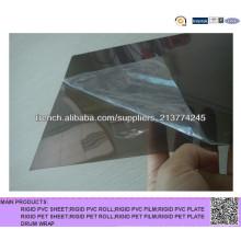 Hoja de PVC transparente de color gris para impresión de regla