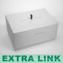 De lujo de alta calidad de fabricación de cartón rígido ambiental logotipo de seda negro impresión de caja rectangular del teléfono celular