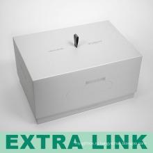 Роскошные высокое качество изготовления экологической твердого картона с логотипом черный шелковый печать прямоугольной коробки сотового телефона