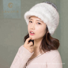 Super soft winter real fox fur australian wool hat
