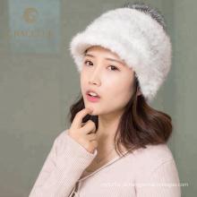 Super macio inverno real fox fur chapéu de lã australiano