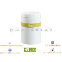 recipiente de venta caliente con banda de silicona para té, azúcar o café