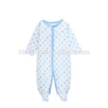 precio al por mayor barato marca bebé recién nacido ropa de invierno de manga larga de algodón orgánico mameluco del bebé