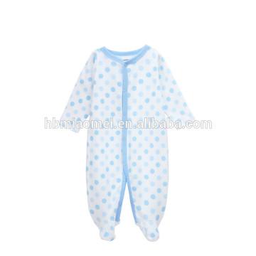 En gros pas cher prix marque bébé nouveau-né vêtements d'hiver à manches longues en coton biologique bébé barboteuse