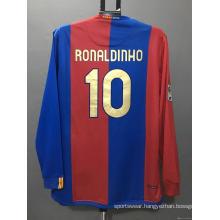 Retro Barcelona soccer jersey RONALDINHO XAVI football shirt
