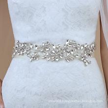 Creative Long Waist Dress Decoration Rhinestone Trim Bridal Sashes Wedding Belt RH1039