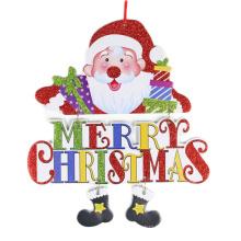 FQ marque vente chaude fenêtre de magasin en bois accrocher décoration de Noël