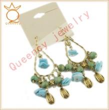 China jewelry beads charm nature stone earring wholesale