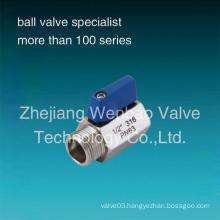 Male to Female Bsp Threaded Stainless Steel (304 316) Mini Ball Valve