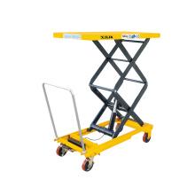 Xilin 680kg   manual hydraulic Double  Scissors Lift Table hydraulic scissor lift table