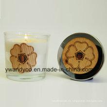 Velas perfumadas de cristal del regalo de boda para la decoración