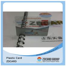 Визитные карточки с прозрачным белым магнитным ПВХ прозрачным