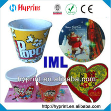 2015 high quality first class custom IML In Mold Label cup