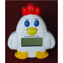 Temporizador de cozinha de galo de plástico promocional dos desenhos animados