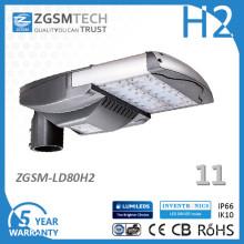 Luz de Rua Solar 80W com Sistema de Controle Automático de Luz de Rua