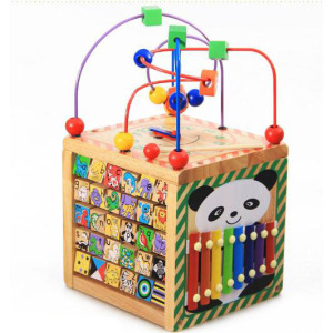 6 in 1 Wooden Bead Maze Educational Toy