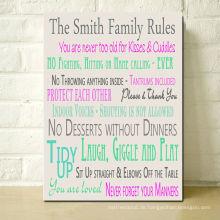 Familienregeln Zeichen