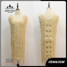 Robe en tricot de conception spéciale de femmes