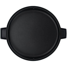 KingWay 2-Sided Pre-Seasoned Cast Iron Round Griddle, 14-Inch