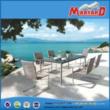 Лучший продавец простой современный дизайн мебель из ротанга открытый обеденной набор красивый балкон