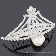 fancy hair accessories wholesale fashion crystal tiara barrette