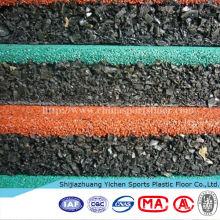 Revestimento de borracha da esteira dos campos de básquete exteriores duráveis de 500mm * de 500mm * de 15mm