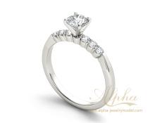Latest Fashion Custom 925 Sterling Silver Diamond Engagement Ring