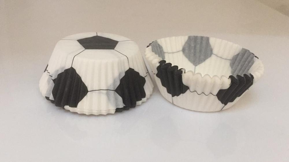 Football Printing Baking Cups with PVC Box