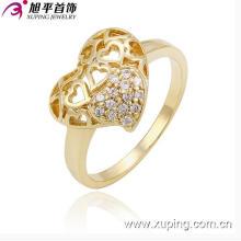 Novo estilo xuping forma coração anel em forma de