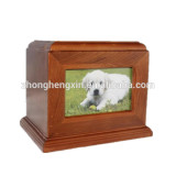 Cheap wholesale wooden photo frame funeral pet ashes urn