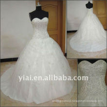 J2511 Free Shipping Elgant sleeveless Embroidery Ball Gown Bridal Wedding Dress