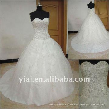 J2511 Vestido de boda nupcial sin mangas libre del vestido de bola del bordado del envío Elgant