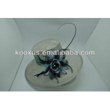 Plain sinamay linen hat wholesale