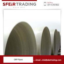 Tubos de poliéster reforçado com vidro / tubos de fibra de vidro GRP para venda