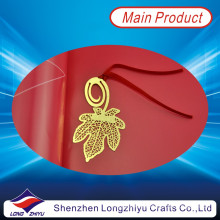 Werbeartikel Clip Blatt Metall Gold Lesezeichen