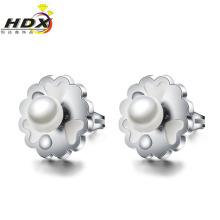 Acero inoxidable accesorios pendientes perla Pendientes de joyería de moda (hdx1131)