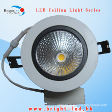 10W luz de techo COB LED, 360 luz de techo ajustable COB